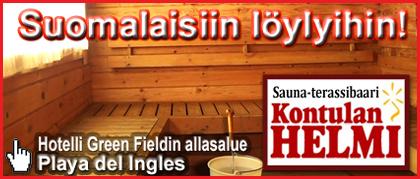 Sauna Kontulan Helmi,Playa del Ingles -kanariaTV.fi